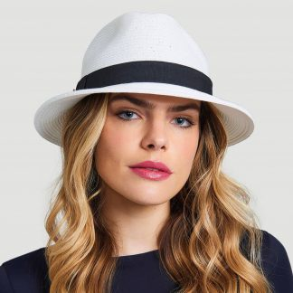 Chapéu UV Shangai Feminino Proteção Solar UV Line Branco