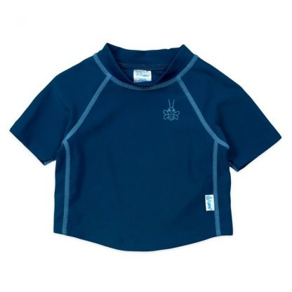 Camiseta UV para Bebês com Proteção Solar Manga Curta IPlay Marinho