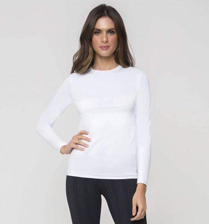 Camiseta UV Pro Feminina Manga Longa com Proteção Solar UV Line Branco