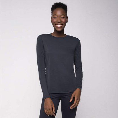 Camiseta UV Pro Feminina Manga Longa com Proteção Solar UV Line Preto