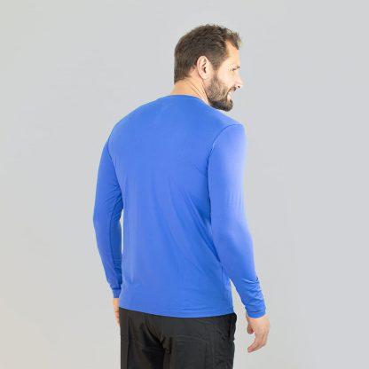Camiseta UV Pro ML com Proteção solar UV Line Azul