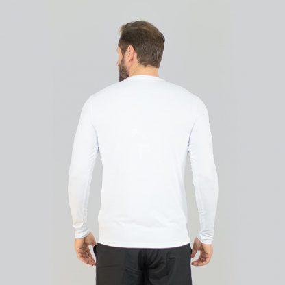 Camiseta UV Pro ML com Proteção solar UV Line Branco