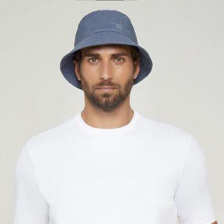 Chapéu Masculino com Proteção Solar Toronto Colors UV Line Indigo
