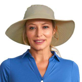 Chapéu UV Lyon Feminino Proteção Solar UV Line Kaki