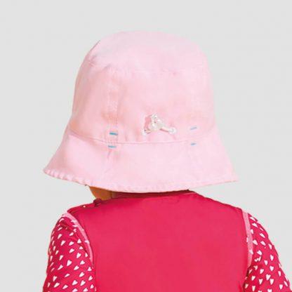 Chapéu UV Infantil Napoli com Proteção Solar UV Line Rosa