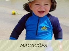 Macacões para bebês com proteção solar UV