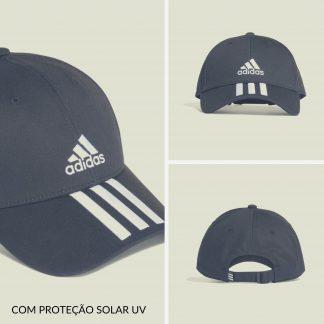 Boné Adidas Preto UV com Proteção Solar