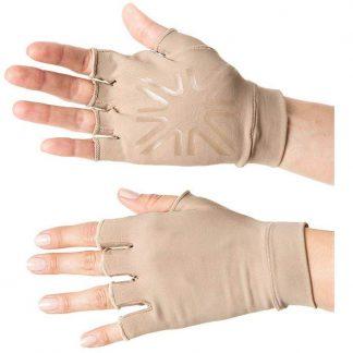 Luva Curta UV com Proteção Solar UV Line Marrom