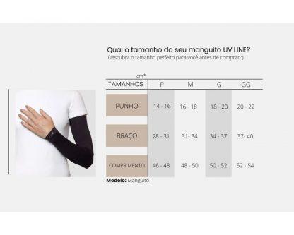 Tabela medidas manguito