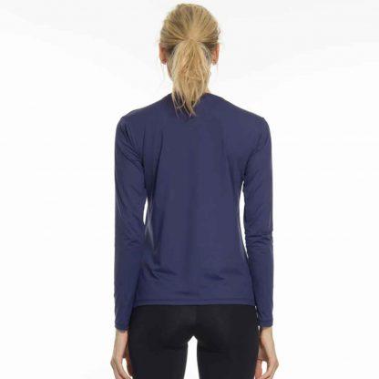 Camiseta UV Pro Feminina Manga Longa com Proteção Solar Térmica UV Line Marinho
