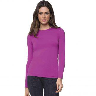 Camiseta UV Pro Feminina Manga Longa com Proteção Solar Térmica UV Line Rosa