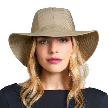 Chapéu Feminino UV San Remo com Proteção Solar UV Line Kaki