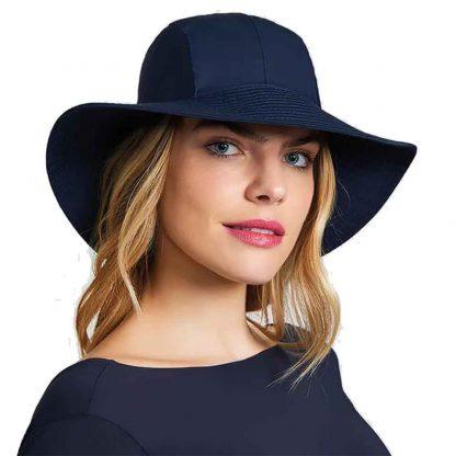 Chapéu Feminino UV San Remo com Proteção Solar UV Line Marinho
